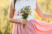 Bouquet, bridal, closeup, matrimony, decoration, ceremony, bride — Stock Photo