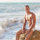 Portrait of a handsome young muscular man — Foto Stock
