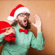 Stock Photo: SantClaus shouts