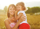 Portrait mother and daughter — Stock Photo
