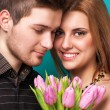 Beautiful couple. Valentine's Day — Stock Photo #39896615
