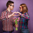 Beautiful couple. Valentine's Day — Stock Photo #39897119
