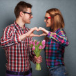 Beautiful couple. Valentine's Day — Stock Photo #39897283