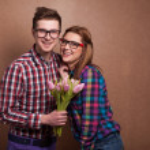Beautiful couple. Valentine's Day — Stock Photo