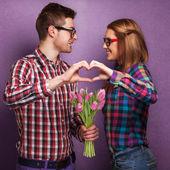 Beautiful couple. Valentine's Day — Zdjęcie stockowe