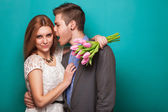 Beautiful couple. Valentine's Day — Stock Photo