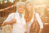 Adult mother and daughter — Foto Stock