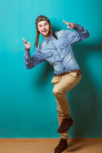 Fashion young man posing — Stock Photo