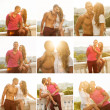 Young couple in love outdoor. Romantic young couple enjoying sun — Stock Photo #44401711