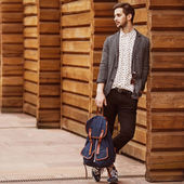 Hipster style guy — Stock Photo