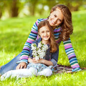 Mother and daughter in park. Mother Day. — Stock Photo
