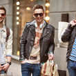 Three hipster men fashion — Stock Photo #48070789