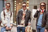 Three hipster men fashion  — Stock Photo