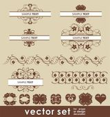 Vector design set — Stock Photo