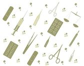 Vector background with medicine tools — Stock Photo