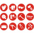 Reconstruction icons set — Stock Photo