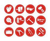 Reconstruction icons set — Stock Photo