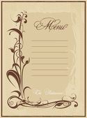 Elegant menu template - vector drawing — Vector de stock
