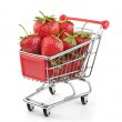 Strawberries in Shopping Cart — Stock Photo #8077175