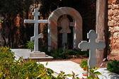 Cemetery in Russian Orthodox Church .Jaffa.Israel — Stock Photo