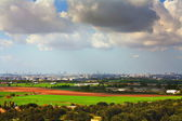 Wildland urban interface of tel-aviv.israel — Stock Photo