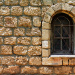 Old wall and old window — Stock Photo