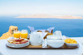 Breakfast for Two with a View — Stock Photo