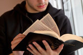 Man Reading Bible — Stock Photo