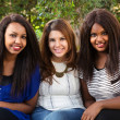 Three Beautiful Girls Smiling — Stock Photo