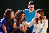 International Group of Friends Interacting — Stock Photo