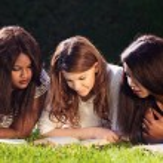 Three University Friends Studying — Stock Photo #51538135