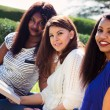 Girls Studying their Bibles at the Park — Stock Photo #51538669