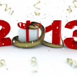 Stock Photo: 3D new year 2013 rendering