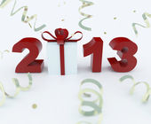 3D new year 2013 rendering — ストック写真
