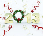 3D new year 2013 rendering — Foto de Stock