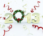 3D new year 2013 rendering — Stockfoto