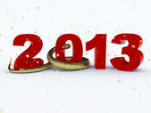 3D new year 2013 rendering — 图库照片