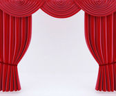 Red curtains — Stock fotografie
