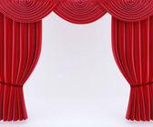 红色的窗帘 — 图库照片