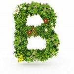 Green Grass Letter B — Stock Photo