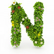 Stock Photo: Green Grass Letter N