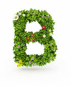 Green Grass Letter B — Stock Photo