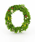 Green Grass Letter O — Stock Photo