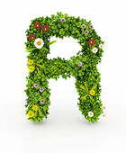 Green Grass Letter R — Stock Photo