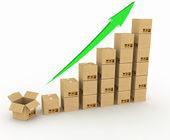 Diagram of increasing exportation. — Stock Photo