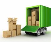 Cardboard boxes around the world. — Stock Photo