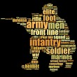 Photo: Infantry men graphics