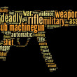 Stock Photo: Sub machine-gun graphics