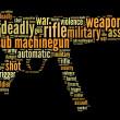 Sub machine-gun graphics — Stock Photo