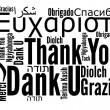 Thank you phrase in different languages - 图库照片